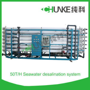 Industrial Desalination of Seawater by Reverse Osmosis System pictures & photos