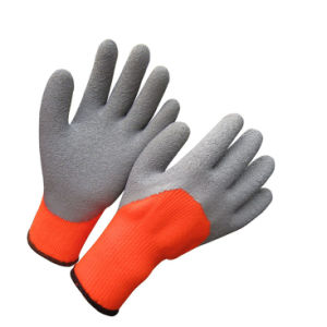 Cold Resistant Gloves Foam Latex Half Dipped Winter Work Glove pictures & photos