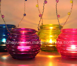 Transparent Glass Ornaments Candle Holders pictures & photos