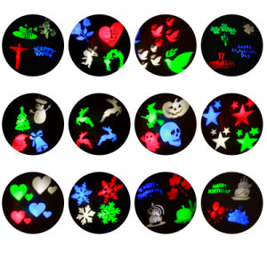 2017 New Outdoor and Indoor LED Christmas Projector Light RGB Color with 12 Slides pictures & photos