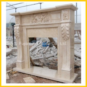 Polished Classic European Style Marble Stone Fireplace Mantel pictures & photos