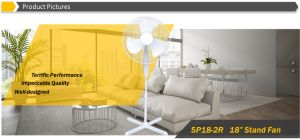 """Powerful 18"""" Oscillating Stand Fan with Cross Base pictures & photos"""
