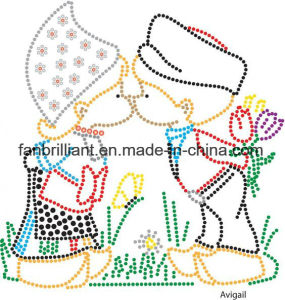 Crystal Rhinestone Heat Transfer Motif pictures & photos
