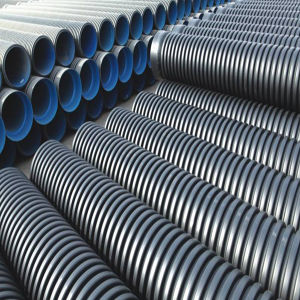 Sn4/Sn8 Grade Double Wall PE Corrugated Pipe/ Corrugated PE Pipe pictures & photos