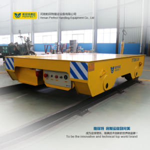 10 Ton Motorized Transfer Trolley Heavy Loads Transport Carriage pictures & photos
