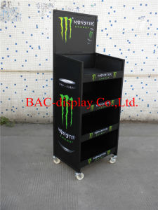 Customized Food Beverage Shelf Metal Display Stand for Daily Sales pictures & photos