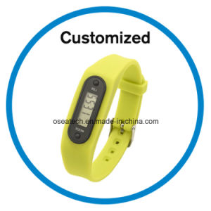 Silicone Pedometer Wristband pictures & photos
