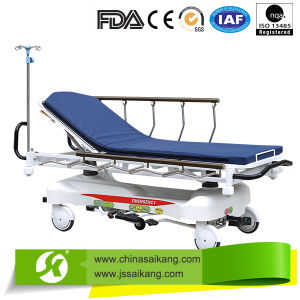 Hospital Transportation Trolley with Two USA Hydraulic Pumps pictures & photos