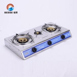 Stainless Steel Three Burners Gas Cooker pictures & photos