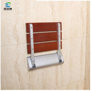Safety Wood Wall Mounted Shower Chair Bathroom Stool for Disable pictures & photos