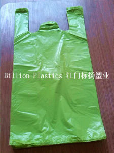HDPE Colorful Plastic Durable T-Shirt Bags for Shopping pictures & photos