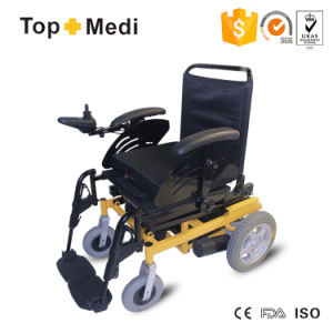Handicapped Steel Electric Wheelchair with Powered Lifting Seat pictures & photos