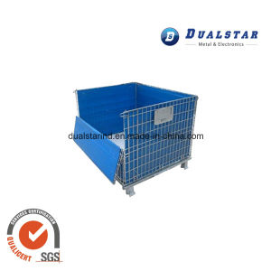 Foldable Metal Wire Logistics Carts Trolley