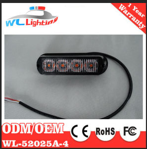 4 LED Strobe Surface Mount Warning Light Amber White pictures & photos