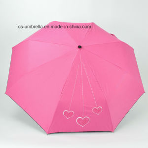 3 Folding Umbrella with Black Coated Fabric (YS3F0009) pictures & photos
