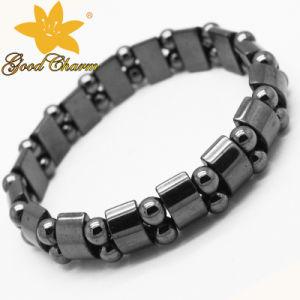 Htb-005 Fashion Jewelry Magnetic Double Orifice Semicircle Haematite Bracelet pictures & photos