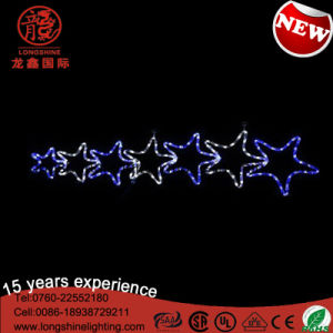 LED Seven Star Twinking Blue Rope Motif Light Christmas Decoration for Lighting outdoor pictures & photos