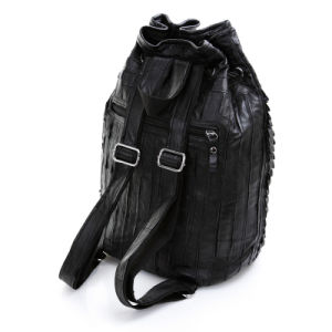Fashion Genuine Leather Bucket Backpack Women School Travel Bag pictures & photos