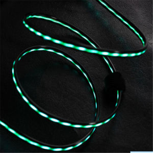 TPE LED Flashing Light USB Data  Charging Cable  for Ios and Android Phones pictures & photos