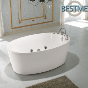 Factory Outlet Sanitary Ware Acrylic Jacuzzi Massage Tub pictures & photos