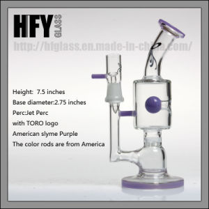 Toro Glass Stemless Jet Smoking Purple Glass Bubbler Water Pipes Honeycomb Small Oil Rig pictures & photos