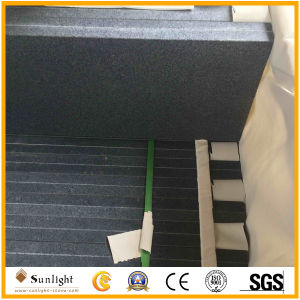 Deep Honed/Matt G654 Dark Grey Granite Stairs with Polished and Bevel Edge pictures & photos
