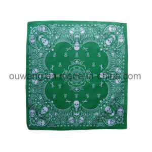 Custom Multifunctional Fishing Mask Promotional Square Bandana Paisley Cotton Printed Handkerchief pictures & photos