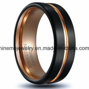Shineme Jewelry Between Silver Blue Tungsten Ring pictures & photos