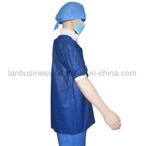 Wholesale Spunbonded Polypropylene Disposable Lab Coats pictures & photos