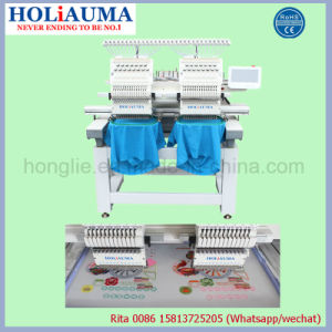 Holiauma 2017 Best 2 Heads Computerized Garment Sewing Machine for Commercial and Industrial Using pictures & photos