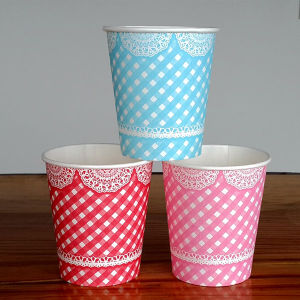 6 Colors Flexo Printing Paper Beverage Cups for Festival Party pictures & photos
