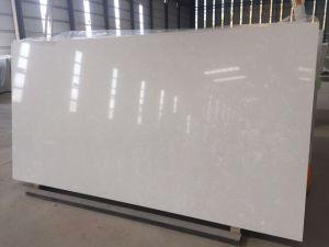 20mm Super White Jumbo Quartz Stone for Kitchen Countertop pictures & photos