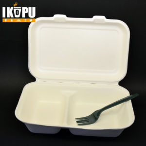 Compostable Biodegradable Disposable Raw Pulp Paper Lunch Box pictures & photos
