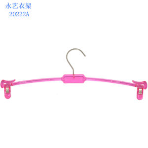 Wholesale Factory Direct Selling Custom Plastic Clear Lingerie Hanger with Clips pictures & photos
