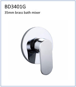 Bd3401g 35mm Brass 3-Ways Built-in Bath Faucet pictures & photos