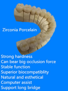 Full Ceramic Zirkon with Good Biocompatibility pictures & photos