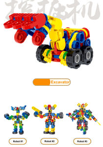 Robot Deformation Car Assembled Blocks Plastic Toy Building Block pictures & photos