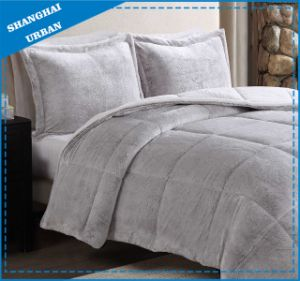 Winter Warm Flannel Blanket Set Bed Linen pictures & photos