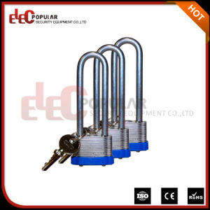 Long Shackle Laminated Iron Steel Padlock and Key pictures & photos
