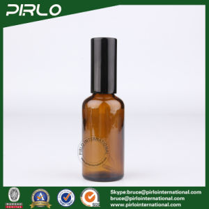 50ml Amber Glass Spray Bottle with Black Lotion Pump pictures & photos