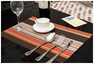 Pure PVC Waterproof Insulated Mat High-Grade Stripe Cushion Table pictures & photos