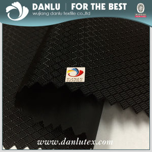 Black PVC Jacquard Oxford Fabric for Bag Manufacturer pictures & photos