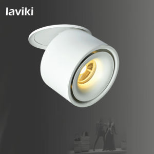7W/10W/12W Recessed COB LED Spot Light with Black and White LED Downlight Ceiling Light for Shops, Home Lighting