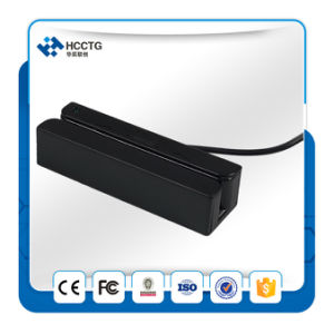 USB Portable Swipe Card Reader 3 Tracks Magnetic Card Reader Hcc750u-06 pictures & photos
