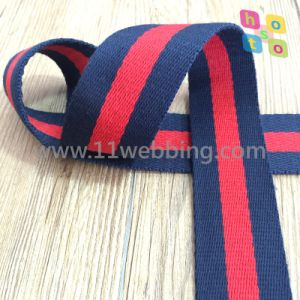 Durable Striped Inelastic Polyester Webbing Strap Tape pictures & photos
