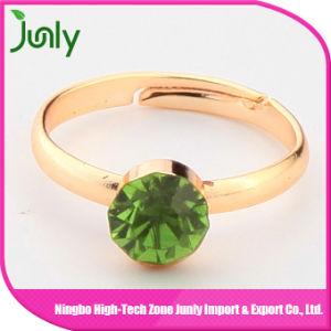 Fashion Popular Big Gold Gemstone Ring Princess Ring pictures & photos