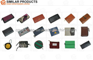 Tri-Fold Style Men′s Full-Grain Leather Made Wallet pictures & photos