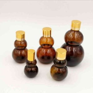 Square Rubber Stopper Amber Glass Essential Oil Bottle pictures & photos