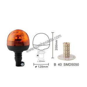 R65 12/24V Flexible Pipe Mount Strobe Beacon LED Strobe Warning Light (SM808AB)