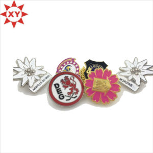 Cute Round Soft Enamel Silver Gold Lapels Pins Badges pictures & photos